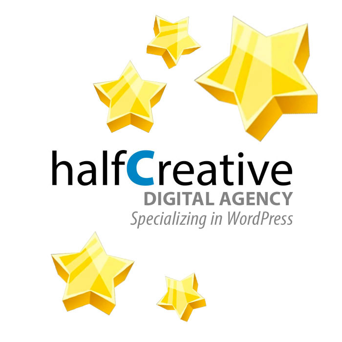 Logo - halfCreative, Portland, Oregon | Website Design, WordPress Maintenance, SEO, Marketing and more..